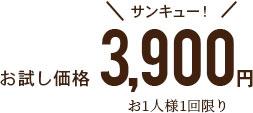 お試し価格3900円